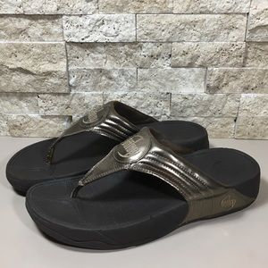 Fitflop Sandals Flip Flop Thong Leather Walkstar 9
